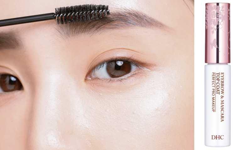 4塗眉毛雨衣:最後用眉毛雨衣(眉毛定型液)將眉毛做完美的定型,就能達到防水效果,避免下雨或流汗脫妝。編輯推薦:DHC眉睫防水雨衣/420元(圖/戴世平攝)