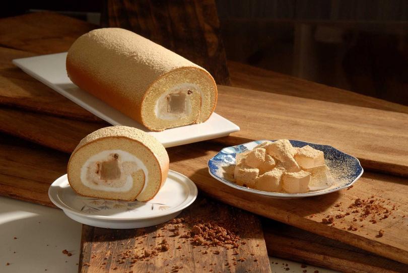 黃豆粉蕨餅生乳捲。(圖/亞尼克提供)