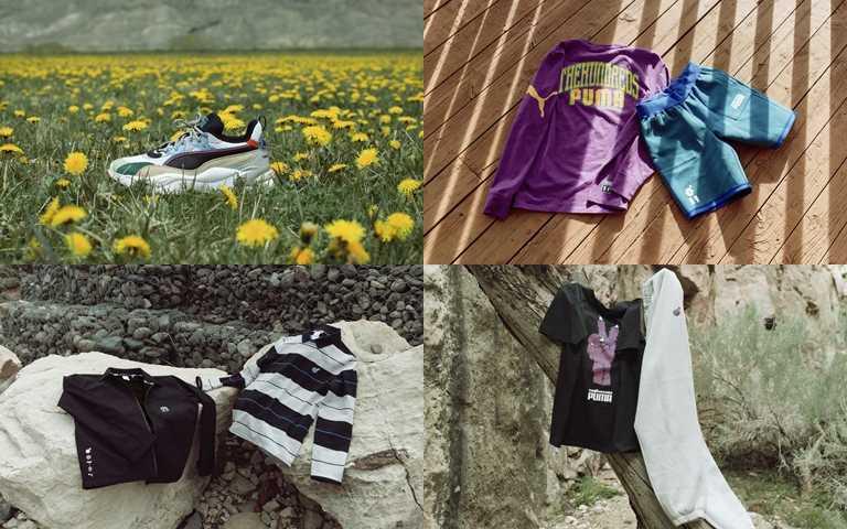 聯名配件與服飾同樣採用環保材質設計製成。(圖/PUMA)