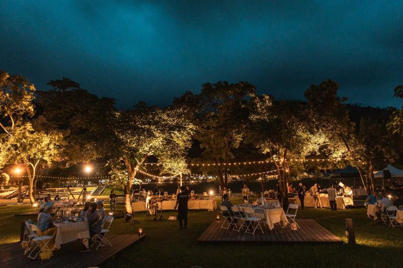 「花卉餐桌音樂會」打造聽覺與味覺的饗宴。
