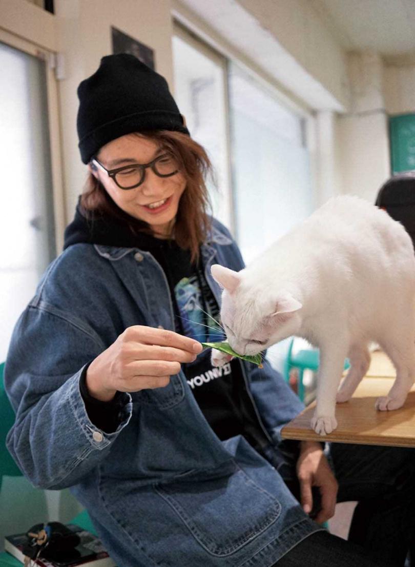 因為愛貓有點挑食,方Q疫情期間沒多買自己的糧食,反而囤了一些貓糧。(圖/相信音樂提供)