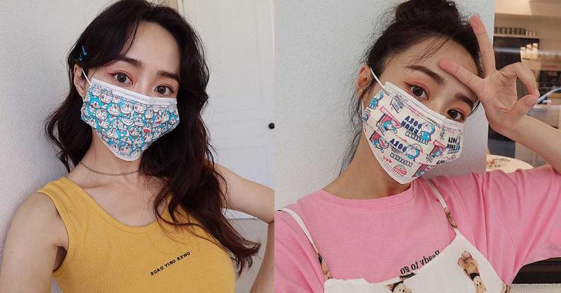 成人款:復古摩登醫療口罩(藍)、復古摩登醫療口罩(黃)