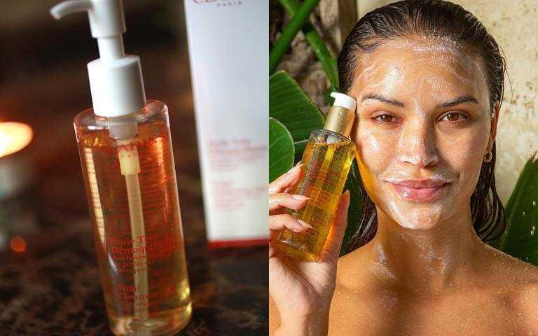 克蘭詩阿爾卑斯純淨卸妝油 200ml/1,250元  以有機向日葵油為基底,打造適合按摩的豐潤滑嫩質地。(圖/翻攝網路)