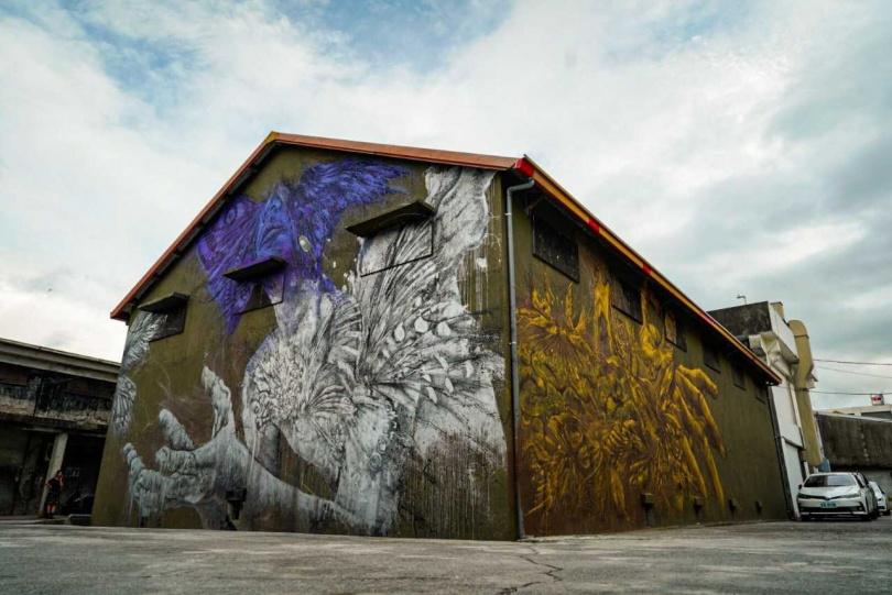 金色稻浪手、縱谷間的山嵐,自在穿梭的白鷺鷥,都成了這次舊穀倉《供給與需求》創作的靈感。(圖/水保局提供)