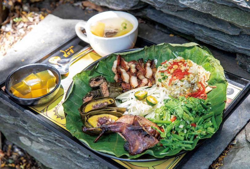 一套有9款菜色的「排灣族風味饗宴」,將店內精華餐點完整呈現。(399元/套)(圖/宋岱融攝)