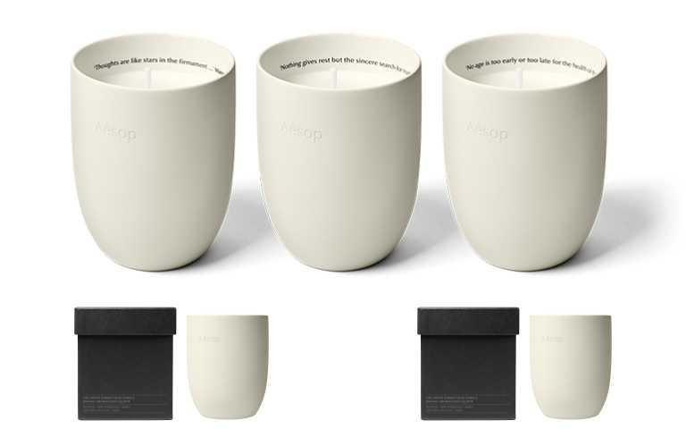 Aesop室內香氛蠟燭建議售價:300g /3,300元(圖/品牌提供)