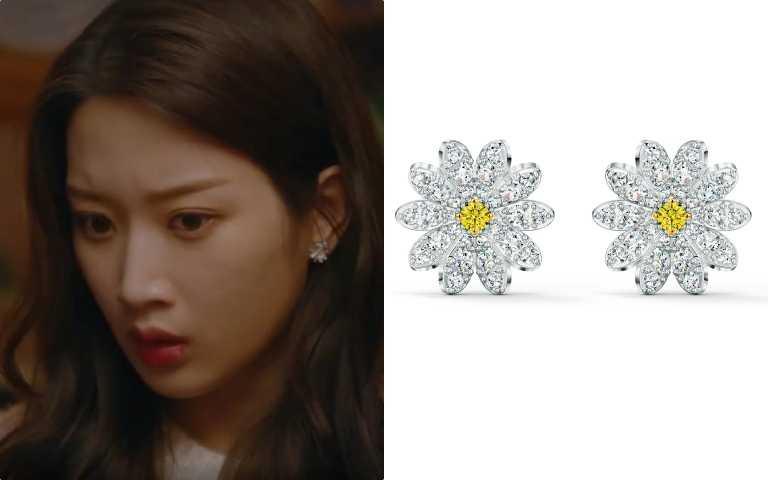 以雛菊為造型的耳環,可愛且精緻,展現女主角的浪漫純潔個性。ETERNAL FLOWER穿孔耳環NT$3,790(圖/截自網路)