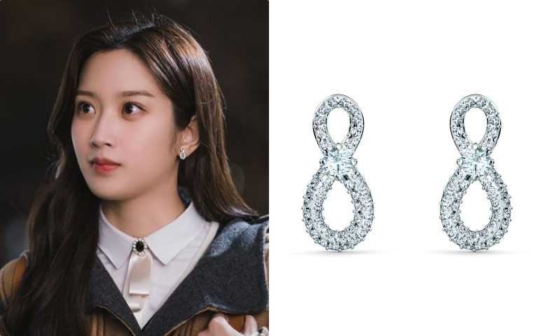 SWAROVSKI INFINITY穿孔耳環NT$2,490(圖/截自IG TVNDRAMA .OFFICIAL)