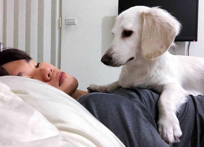 相當有靈性的Friday,曾在蔡明仁做惡夢囈語時趕緊喚醒他,讓蔡明仁覺得超級貼心。(圖/一切好音樂工作室提供)