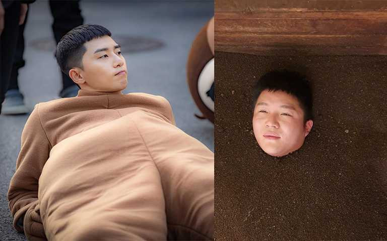 韓國諧星曹世鎬跟朴敘俊剪了同一顆頭,但把兩人放一起時尚度還是有差。(圖/JTBC,chosaeho IG)