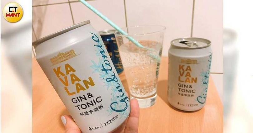 「噶瑪蘭琴通寧調酒」採用噶瑪蘭琴酒為基底,加入苦味通寧,帶有草本與檸檬清香。(圖/官其蓁攝)