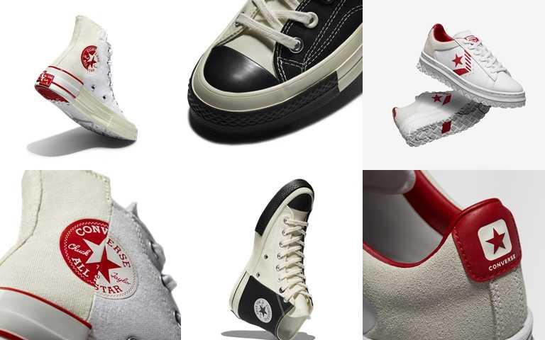 Converse Rivals系列鞋款Chuck 70黑白配色建議售價為NT2,980;紅白配色建議售價為NT2,680;Pro Leather建議售價為NT2,680。(圖/Converse)