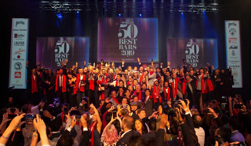 去年的世界50最佳酒吧2019頒獎典禮現場。(圖/Perrier沛綠雅氣泡天然礦泉水提供)