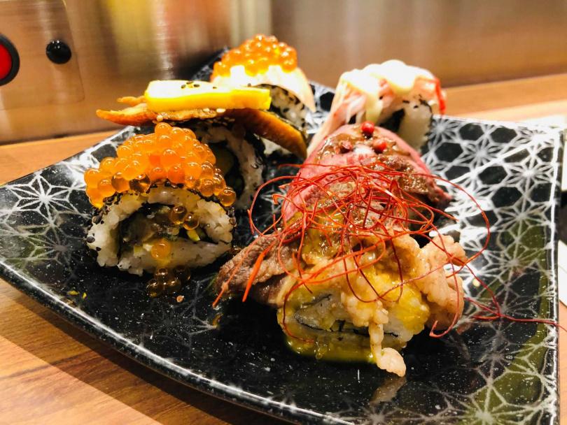 海味滿載壽司卷。(圖/余玫鈴攝)