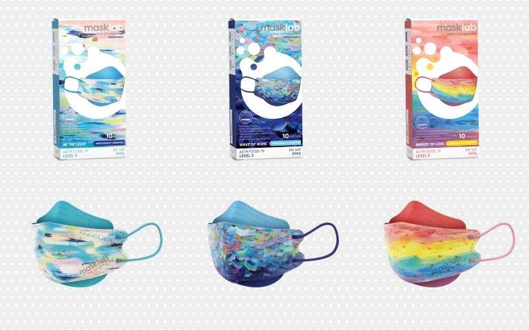 莫允雯Honest Hour x masklab「從心出發」系列口罩一共有三款,皆由莫允雯一手繪畫並參與設計,包括「照亮自我」、「希望之浪」、「愛的力量」的彩虹口罩,一戴上讓你走在路上別人都會多看你一眼。(圖/品牌提供)
