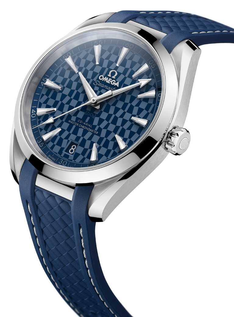 OMEGA「Seamaster海馬」系列,Aqua Terra「東京2020」特別版腕錶,42mm,不鏽鋼錶殼,8900型同軸擒縱大師天文台機芯,限量2,020只。(圖╱OMEGA提供)