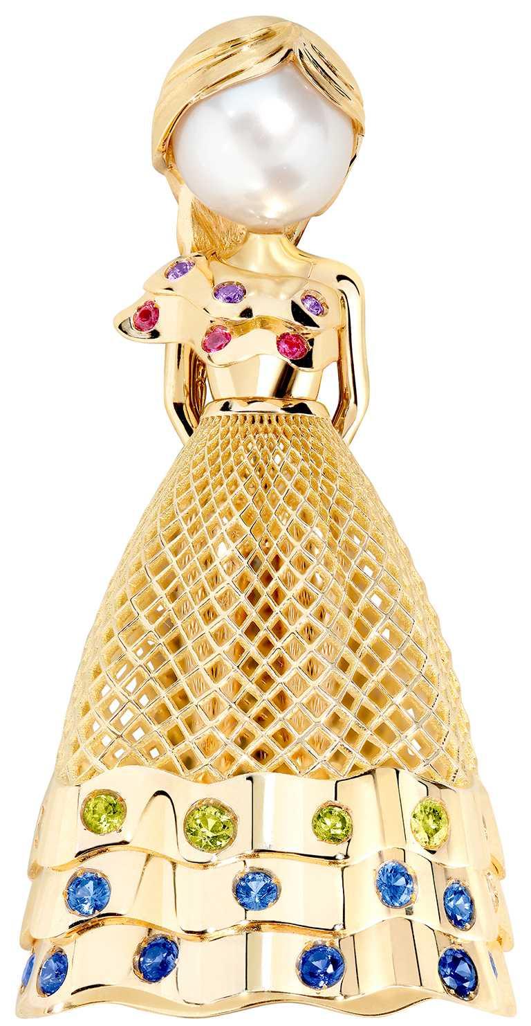 FRED「Fredy's Tomo's Dolls」TUTU珠寶胸針,吊墜加項鍊╱560,300元。(圖╱FRED提供)