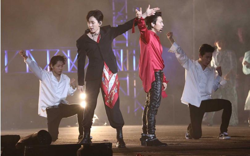 韓國天團Super Junior-D&E首度來台參加跨年,創下台北場當晚第三高收視。(攝影/彭子桓)