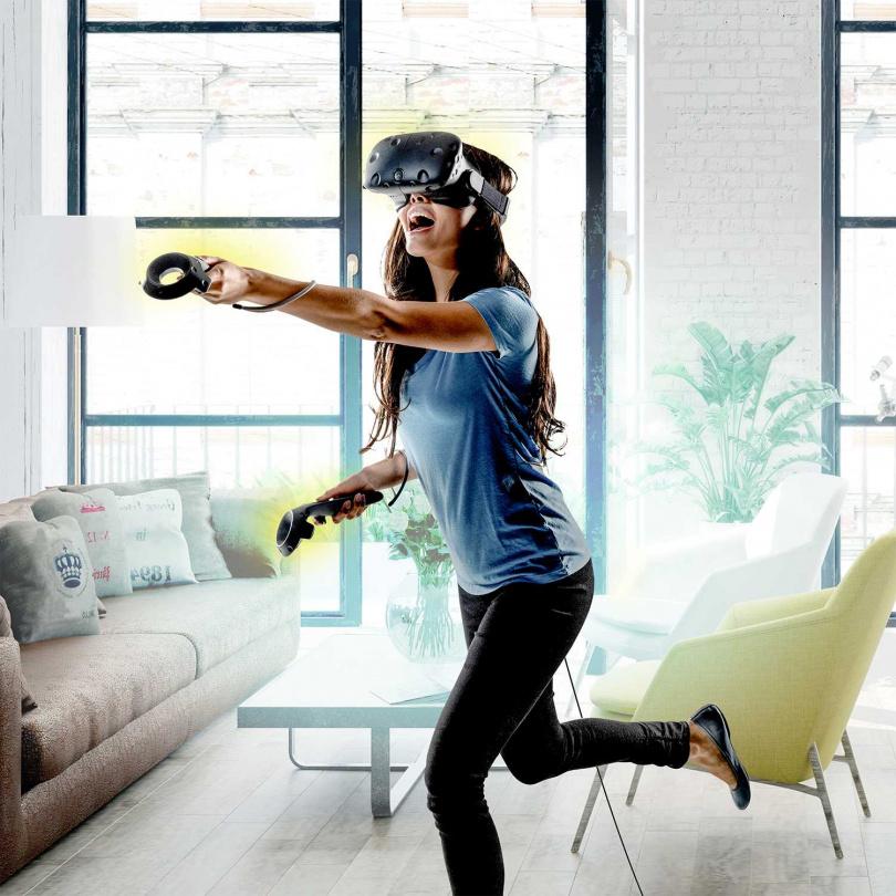 以HTC VIVE新型VR遊戲體驗為主軸的VR兒童遊戲室。(圖/台北晶華酒店提供)