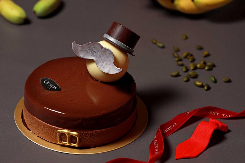 「甜蜜紳士老爸」結合台灣香蕉,打造專屬於爸爸們的甜蜜滋味。(圖/台北晶華酒店)