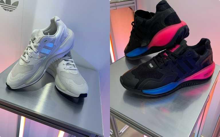 圖左為女生款ZX ALKYNE,右為男生款另一配色。(圖/陳瑋 攝)