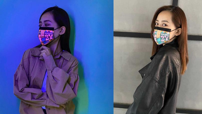 跨年看煙火就是要戴著「2021新年款」螢光口罩!