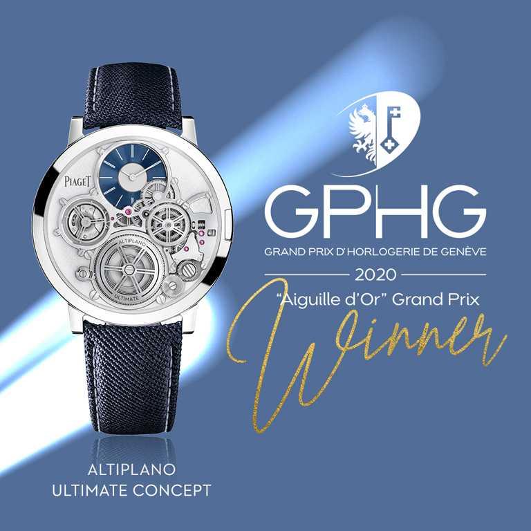 GPHG 2020年度《Aiguille d'Or Grand Prix》「金指針」最傑出大獎。(圖╱PIAGET提供)