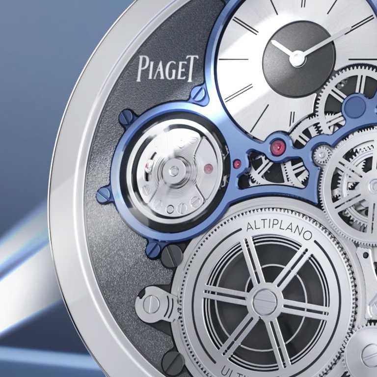 革新錶殼構造,直接將其運用為機芯底板,其他組件更徹底重塑尺寸和設計,使內部機芯與外在錶殼整合為一。(圖╱PIAGET提供)