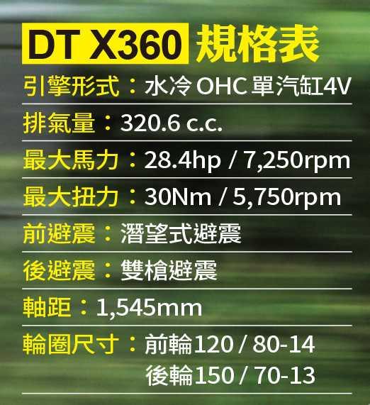 DT X360規格表