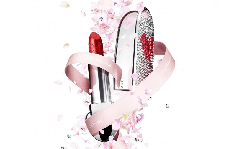 GUERLAIN紅寶之吻高訂唇膏(閃耀動心限量版)限定彩殼+#N214/2,510元(圖/品牌提供)
