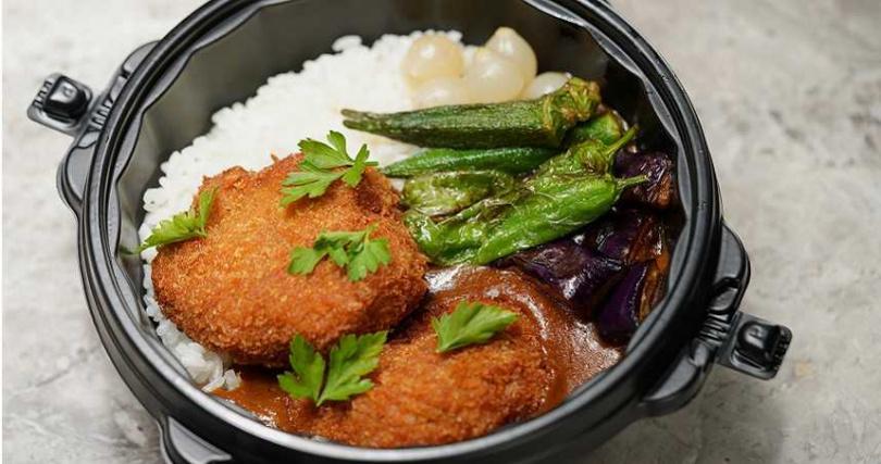 「靈魂咖哩飯」重現主廚兒時在日本吃到的美味。(250元,圖/Orchid by Nobu Lee蘭提供)