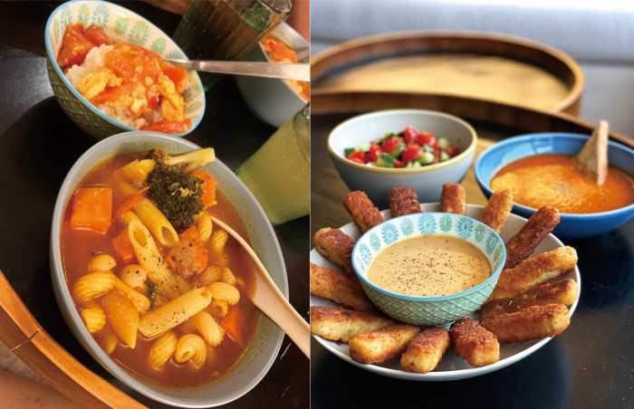 廚藝不錯的莫允雯,不管是煲湯或中西式料理都很拿手,擺盤也頗有儀式感。(圖/齊心娛樂提供)