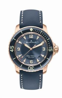 寶珀50噚玫瑰金自動潛水錶 定價:1,140,000元