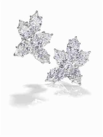 Winston Cluster經典溫斯頓風格鑽石耳環