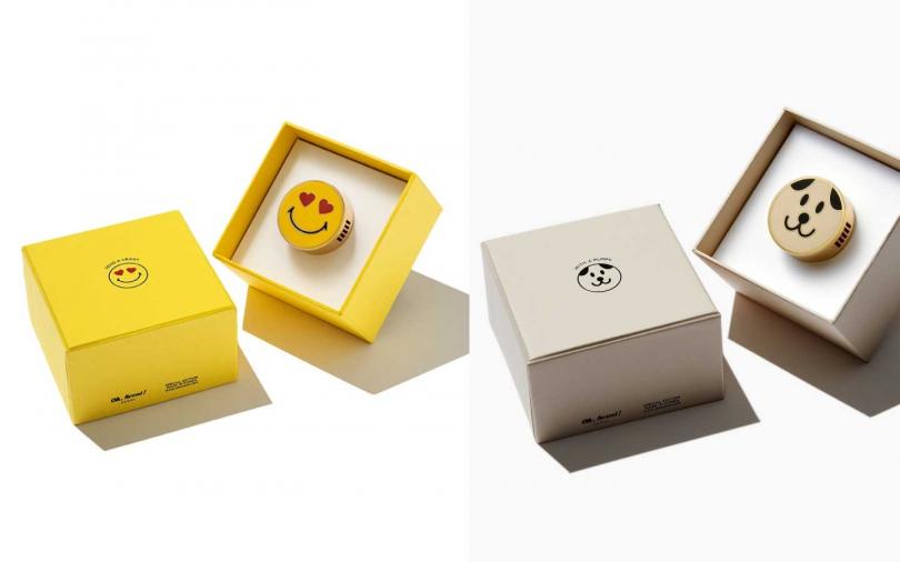 (左)Oh, Scent!精緻車上香氛系列 微笑表情款 1,490元。(圖/品牌提供)