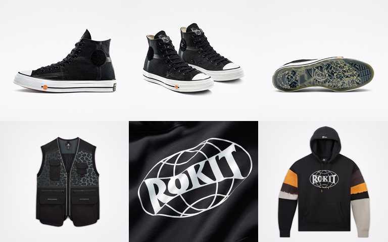Converse x ROKIT Chuck 70聯名鞋款售價為NT3,580,聯名背心售價為NT3,880、帽T售價為NT2,880。(圖/Converse)