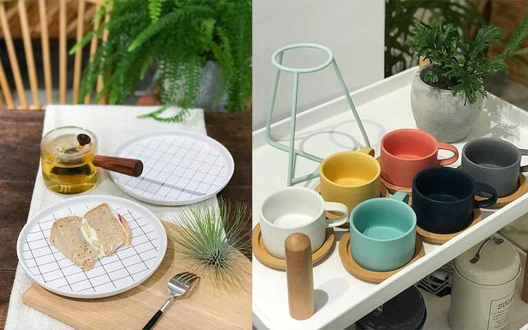 超多色的陶瓷馬克杯組,繽紛色平常泡咖啡或是喝茶都好療癒。(圖/宅jài風格生活)