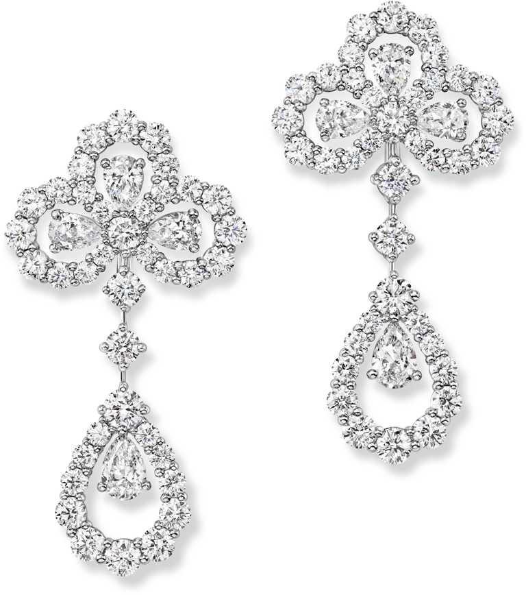 海瑞溫斯頓「Diamond Loop」系列鑽石耳環╱價格店洽。(圖╱HARRY WINSTON提供)