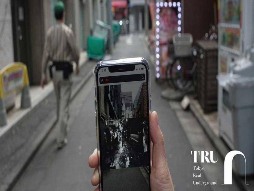 透過AR技術可追隨攝影大師威廉‧克萊因的足跡。(圖/naoto iina攝)