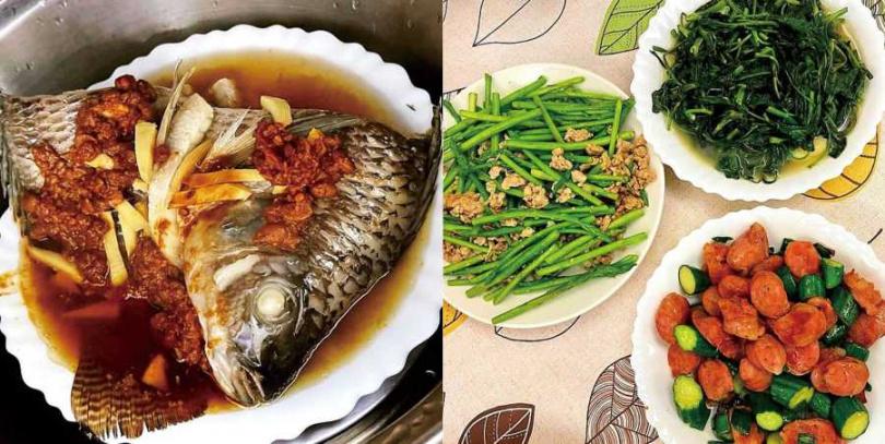 翁立友在家和媽媽一起煮食,簡單的幾道菜就吃得很滿足,他表示最喜歡媽媽的手藝。(圖/豪記唱片提供)