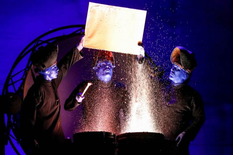 藍人樂團將在台北一連演出8場。(張祐銘攝)