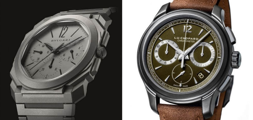BVLGARI/Octo Finissimo Chronograph GMT Automatic(左);CHOPARD/L.U.C Chrono One Flyback