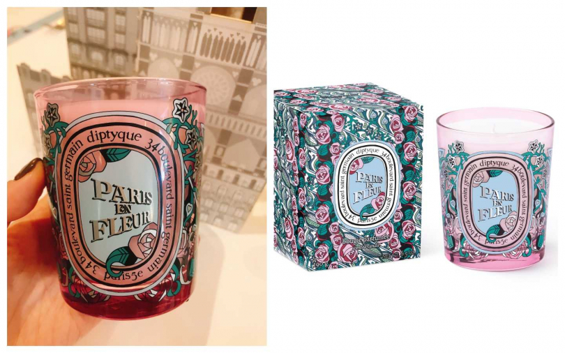 diptyque 2020限量情人節花樣巴黎香氛蠟燭 190g/2,400元。(圖/黃筱婷攝影、品牌提供)