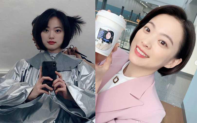 千玗嬉告別長黑髮,短髮新造型更清新可愛,完全看不出已經32歲。(圖/thousand_wooo IG)