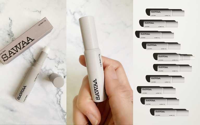 SAWAA月相護唇膏/680元這樣的包裝設計,相信就連文青派跟職場人士一定也會喜歡。(圖/吳雅鈴攝影、品牌提供)