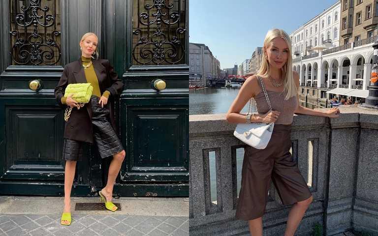以為會很難挑戰的五分褲,讓Leonie Hanne親自示範給妳看這樣穿意外地很OK。(圖/翻攝Leonie Hanne IG)