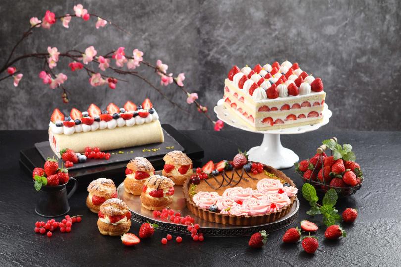 圖為草莓系列甜品。