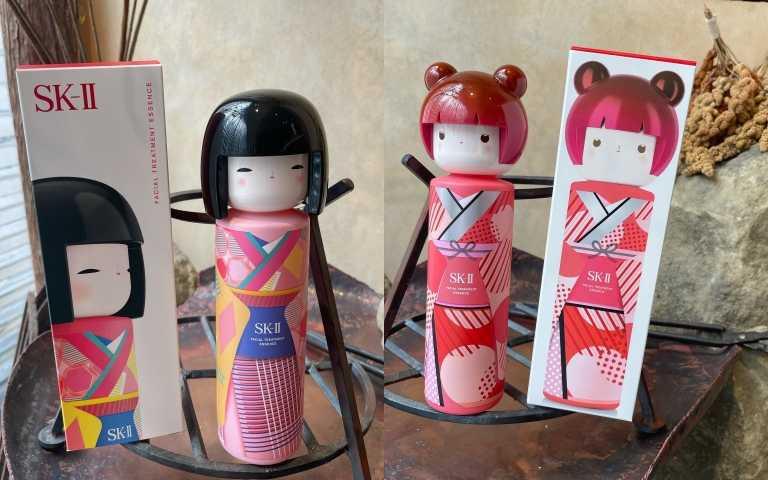外盒包裝也超級可愛有誠意,簡直是萌翻,讓人好想收藏。SK-II青春露TOKYO GIRL限定版 粉紅和服(左)/紅和服(右)/6,575元。