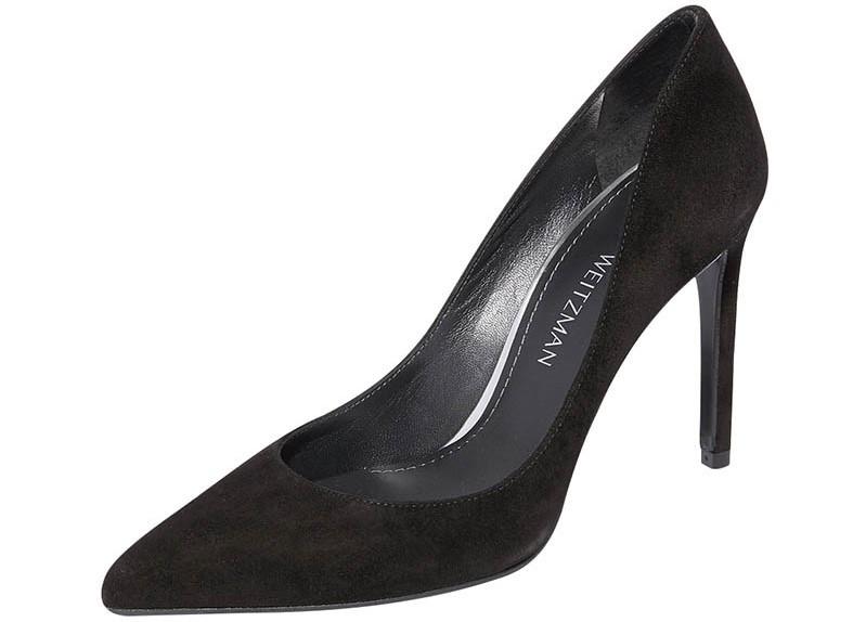 Stuart Weitzman 黑色麂皮高跟鞋/價格店洽