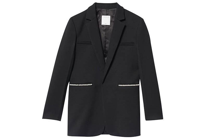 Sandro 鑲珍珠西裝外套/15,070元
